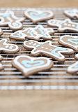 Gingerbread cookies -selective focus