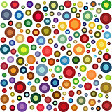 circle shape collection in multiple color over white