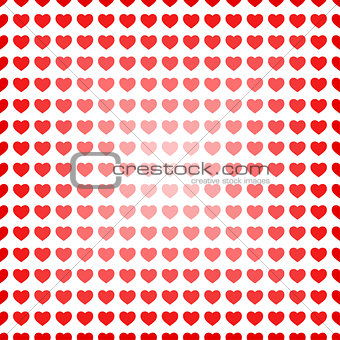 Abstract seamless hearts romantic background