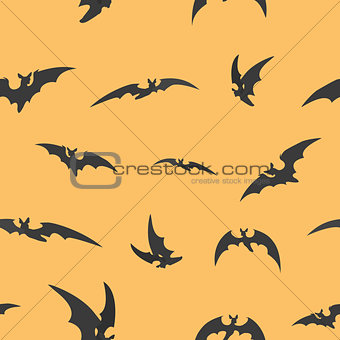 Bats silhouettes for Halloween