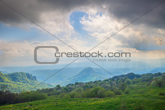 Caucasian mountains landscape