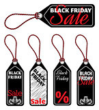 vector black friday sale tags