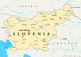 Slovenia Political Map