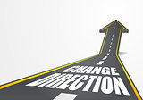 road Change Direction