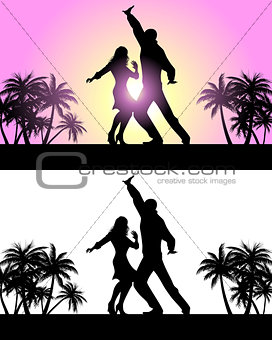 Couple dancing latin dances