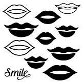 Woman lips design elements