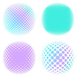 Abstract round halftone elements