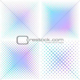 Abstract square halftone elements