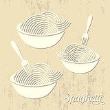 Spaghetti or noodle card