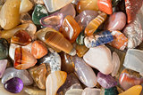 Polished gravel, glassy river stones