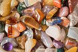 Polished gravel, glassy river stones