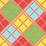 Diagonal seamless pattern in various motley colors