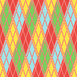 Rhombic seamless pattern in various motley colors