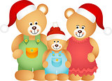 Christmas Teddy Bear Family