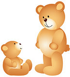 Teddy bear dad with son
