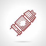 Tattoo machine grip. Vector icon