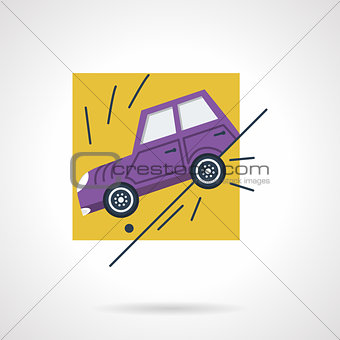 Car insurance occasion flat vector icon