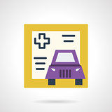 Driver life insurance vector icon