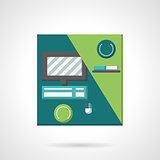 Workplace flat color vector icon