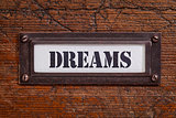dreams  file cabinet label