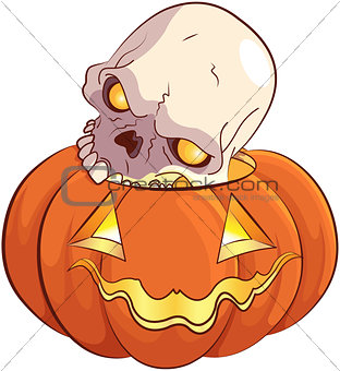 Skull and Pumpkin