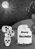happy halloween gravestone