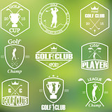 Set of vintage golf labels