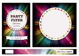 Club Flyers with copy space and rainbow background
