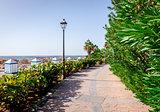 Seafront promenade along El Duque beach. Tenerife