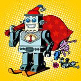 Robot Santa Claus Christmas gifts humor character Robosanta