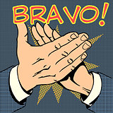 hands palm applause success text Bravo