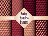 Vector Seamless Geometric Patterns Set