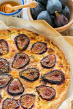 Pizza with figs, ricotta and honey.