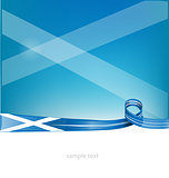 scotland ribbon flag on background