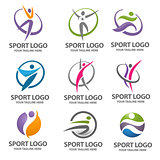 sport people logo vector