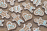 Fresh gingerbread cookies