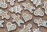 Fresh gingerbread cookies
