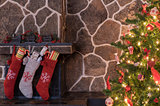Christmas stockings and tree