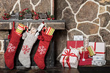 Christmas stockings  and presents