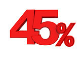 red sign 45percent
