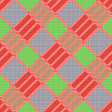 Diagonal seamless pattern in various colors