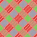 Diagonal seamless pattern in various colors