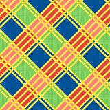 Diagonal seamless pattern in motley colors