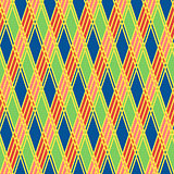 Rhombic seamless pattern in motley colors