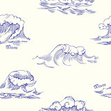 Seamless pattern with waves-02