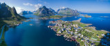 Norway aerial panorama