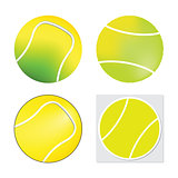 Tennis ball set  - Vector isolated on white background