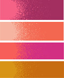 spray paint gradient detail in pink orange