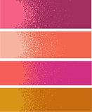 spray paint gradient detail in pink orange