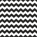 Zig zag chevron black and white tile vector pattern